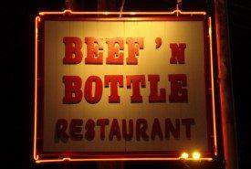 Beef `n Bottle Sign